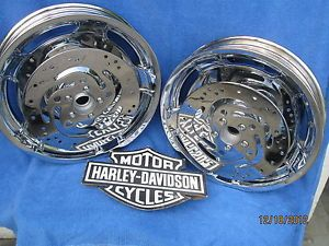 Harley Air Strike Chrome Wheels FLHX or FLH Ultra Touring Great Wheels Package
