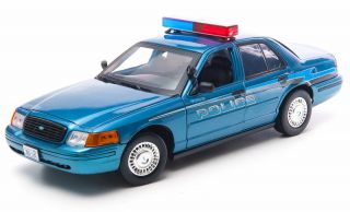 Greenlight 2008 Ford Crown Victoria Twilight Forks WA Police Diecast Car 12864