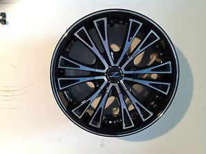 "22"" Zinik Z29 6x132 6x5 5 Black Machined Wheel 22x9 5 Z2922232B3578BMF Single"
