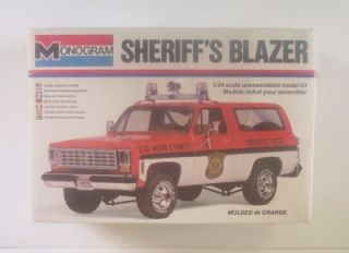 4x4 Chevy Sheriffs Blazer 2249 Monogram 1 24 SEALED Truck Model Kit Vtg