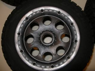 Truck Tires Rims Beadlocks Wheels 4 Fits HPI 5T T1000
