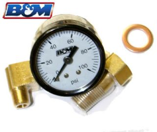 B M Fuel Pressure Gauge Honda Civic Integra Eclipse Talon D16 B18 B16 4g63