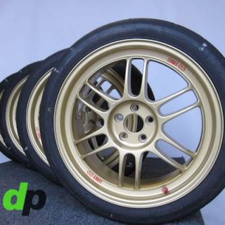 "18"" Gold Enkei RPF1 Rims Nitto NT01 Race Track Tires for Subaru Impreza WRX"