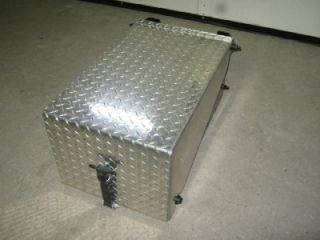 M2 Frieghtliner Semi Diamond Plate Smaller Aluminum Steel Metal Battery Box