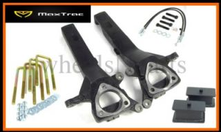"2004 2012 2WD Nissan Titan Maxtrac 4"" Front 2"" Rear Suspension Lift Kit 607"