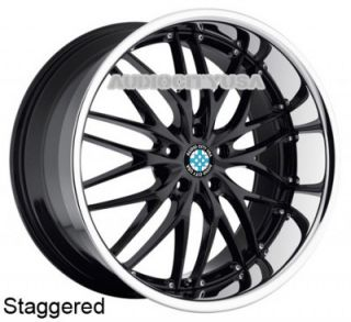 "22"" MRR Staggered for BMW Wheels and Tires Rims 5 6 7 Series 645 650 745 750"