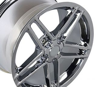 "17"" 18"" 9 5 10 5 Chrome C6 Z06 Wheels Conti Tires Rims Fit Camaro Corvette"
