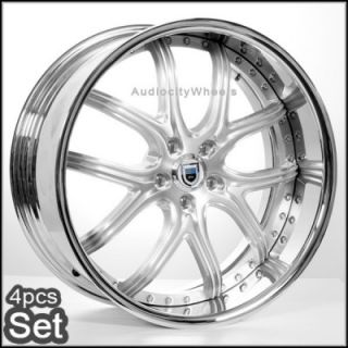 22inch for BMW Wheels Rims 6 7 Series 2pc asanti Staggered