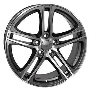 "17"" Gunmetal R8 Style Wheels Set of 4 Rims Fit Audi A4 A6 A8 Allroad"