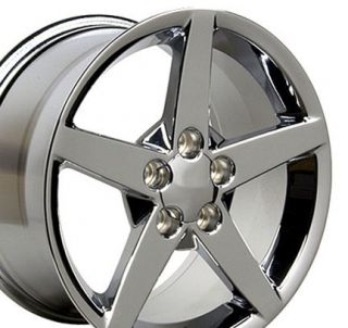 "19"" Rim Fits Corvette C6 Wheel Chrome"