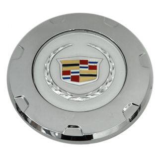 Set of 4 Cadillac Escalade Chrome Wheel Center Caps Color Logo 07 10 9597355