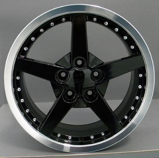 "18"" Rims Fit Camaro Corvette C6 Deep Dish Wheels Set"
