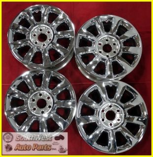 "2011 11 Buick Enclave 19"" Chrome Clad Wheels Used Factory Rims Set 4098"