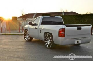 "26"" Velocity VW12 BM Concaved Wheels and Tires Rims for Chevy Tahoe Escalade"
