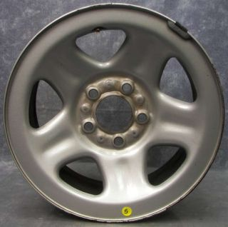 "Nice Jeep Wrangler TJ 1997 Silver Painted Steel Wheel 15""x7"" 93 06"