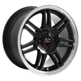 "17"" Black Cobra 4 Lug Deep Dish Wheels Rims Fit Mustang® GT"
