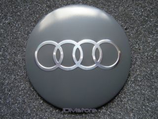 Audi Wheel Center Cap Sticker Badges Emblem 4 Pcs