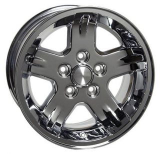 "15"" Chrome Wrangler Wheels 15x8 Set Rims Fit Jeep"