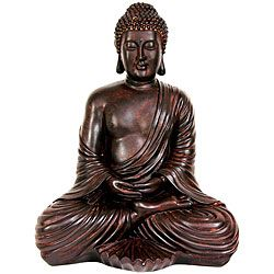 Large 17 inch Japanese Sitting Buddha Statue (China) Statues & Sculptures