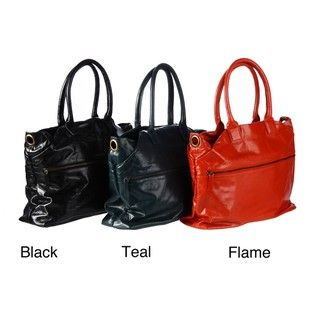 Latico Top Zip Leather Tote Bag Latico Tote Bags
