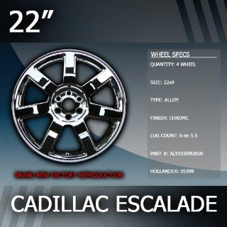 "2007 2011 Cadillac Escalade 22"" Inch Factory Chrome Wheels Replacement Set of 4 Automotive"