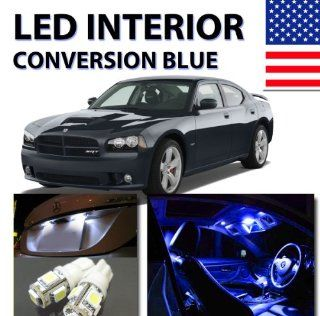 AGT Bright Blue LED Lights Interior Package 5pc Kit Dodge Charger 2006 2010 Automotive