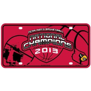 NCAA Louisville Cardinals 2013 NCAA Men's Basketball Champions Metal Auto Tag Sports & Outdoors
