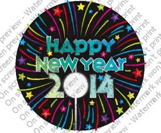 Happy New Year 2014 Edible Cupcake Toppers Decoration  Other Products