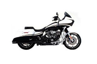 "Rinehart Black Ceramic Xtreme True Duals with 3.5"" Mufflers for Harley Davidson 2009 2013 Touring Models Automotive"