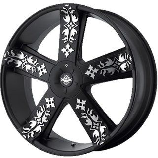 KMC KM669 20x8.5 Black Wheel / Rim 5x4.5 & 5x4.75 with a 18mm Offset and a 72.60 Hub Bore. Partnumber KM66928504718 Automotive