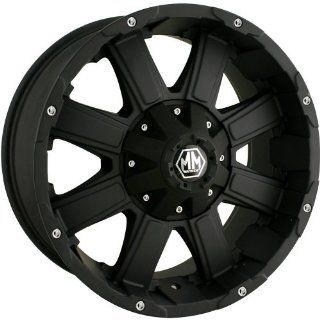 Mayhem Chaos 18 Black Wheel / Rim 5x5.5 & 6x5.5 with a  12mm Offset and a 108 Hub Bore. Partnumber 8030 8995MB Automotive