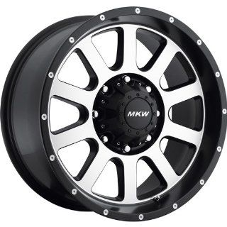 MKW Offroad M86 20 Black Machined Wheel / Rim 8x170 with a 10mm Offset and a 130.80 Hub Bore. Partnumber M86 2090817010B Automotive