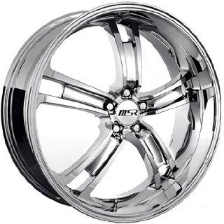 MSR 87 20 Chrome Wheel / Rim 5x4.5 with a 40mm Offset and a 72.64 Hub Bore. Partnumber 8762712 Automotive