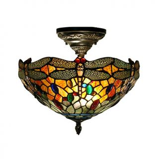 Dale Tiffany Sonota Semi Flush Ceiling Mounted Lamp