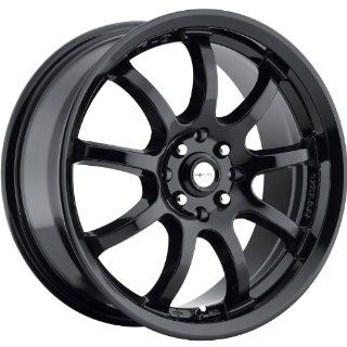 Focal F 9 16 Gloss Black Wheel / Rim 4x100 & 4x4.5 with a 42mm Offset and a 73 Hub Bore. Partnumber 169 6703BK Automotive