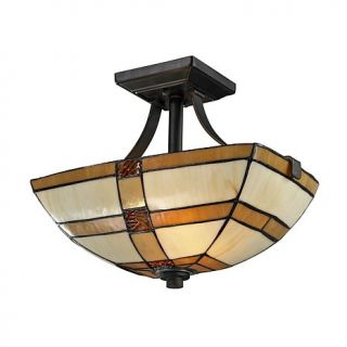Dale Tiffany Brisdol Semi Flush, Ceiling Mounted Lamp