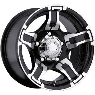 Ultra Drifter 15 Black Wheel / Rim 5x5.5 with a  44mm Offset and a 107 Hub Bore. Partnumber 194 5185B Automotive