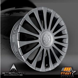 MST 511 19 Black Chrome Wheel / Rim 4x100 & 4x4.5 with a 42mm Offset and a 72.69 Hub Bore. Partnumber 511 9816 Automotive