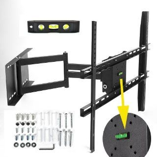 "Lumsing Adjustable Tilting/Swiveling Articulating TV Wall Mount 17 60"" LED LCD Plasma Flat Panel Screen    Long Cantilever TV Wall Bracket Mount for Most 17 19 21 22 23 24 26 27 30 31 32 33 36 37 40 42 43 45 46 47 50 52 55 58 60"" with Magnetic Bu"