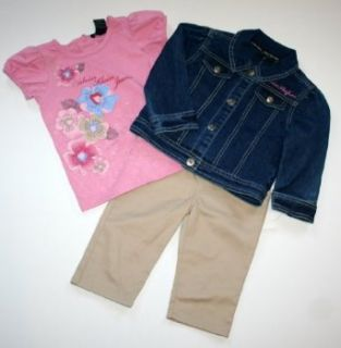 Calvin Klein Baby/Infant Girl's (6 24 Months) 3 Piece Jacket/Shirt/Pant Set (24 Months) Clothing