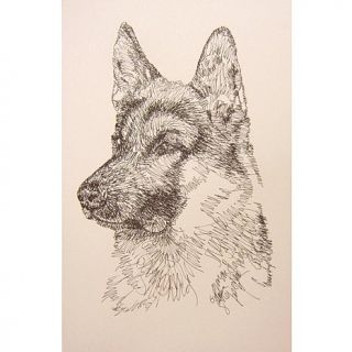 Kline Dog Art German Shepherd Hand Signed Art Lithograph