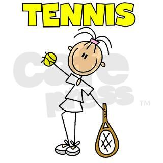 TENNIS Girl Stick Figure Note Cards (Pk of 10) by my_stick_figure