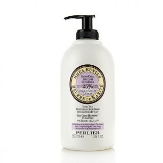 Perlier 16.9 oz. Shea Butter with Lavender Extract Moisturizing Bath Cream