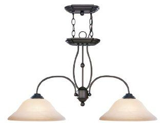 Livex Lighting 4172 07 Island Pendant with Honey Alabaster Glass Shades, Bronze