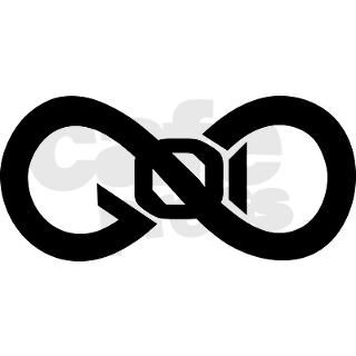 God Infinity Symbol Oval Car Magnet by GodInfinitySymbolBumperStickers
