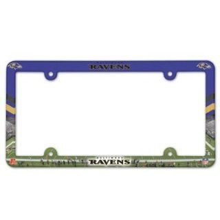 License Frame Baltimore Ravens Full Color Plastic License Frame Nfl Fan National Football League American Game Decoration Accessories Sports & Outdoors