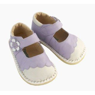Pippytoes Leather Baby / Toddler Shoes Mary Janes Lavender White (NOT SQUEAKY) (5 (Fits as Baby size 4)) Shoes