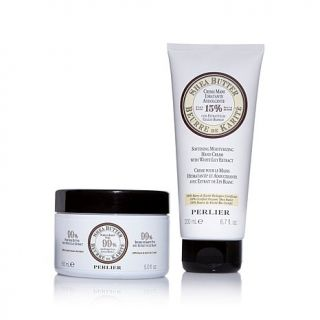 Perlier Double Size 99% Shea Butter and Hand Cream with White Lily Extract