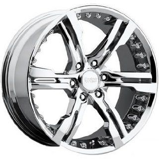 Cruiser Alloy Switchblade 6 20x9 Chrome Wheel / Rim 6x135 with a 30mm Offset and a 87.00 Hub Bore. Partnumber 904C 2906330 Automotive