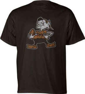 Cleveland Browns Classic NFL Throwback Logo T Shirt   Large Clothing